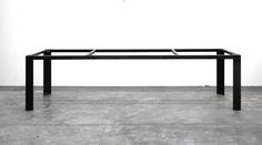 Pieds de table en acier brut — Steel table