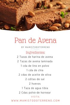 Healthy Dishes, Healthy Recipes, Healthy Life, Healthy Eating, Pan Dulce, Sin Gluten, Light Recipes, Catering, Bakery