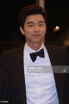 Yoo Gong attends the 'Train To Busan (Bu_San-Haeng)' premiere during the annual Cannes Film Festival at the Palais des Festivals on May 2016 in Cannes, France. Goblin Korean Drama, Goblin Gong Yoo, Yoon Eun Hye, Yoo Gong, Goong, Palais Des Festivals, Korean Art, Busan, Cannes Film Festival
