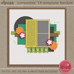 Quality DigiScrap Freebies: Template freebie from LBVD