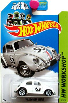 Herbie - The Love Bug - Hot Wheels 2014 HW Workshop #191/250 - Volkswagen Beetle - diecast