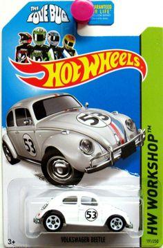 "Volkswagen Beetle ""The Love Bug"" Hot Wheels 2014 HW Workshop #191/250"