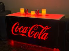 Coca Cola LED LIghted Cubix Table