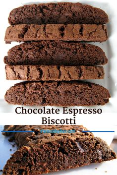 Chocolate Espresso Biscotti- rich chocolaty biscotti are crunchy, sweet, and full of mocha flavor!   The Monday Box