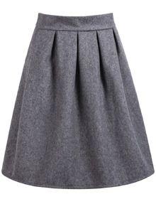 High Waist Wine Grey Skirt 7.99