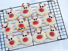 Rudolphe the Red-Nosed Reindeer Christmas Cookies
