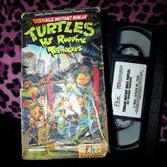 Vintage 1987 Teenage Mutant Ninja Turtles VHS Hot Rodding Teenagers Tape Movie