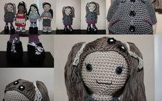 crochet doll pattern, Winter