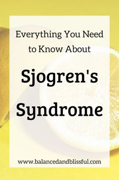 Sjogren's Syndrome is an one of the most common autoimmune diseases, but it is vastly misunderstood! This invisible illn. Chronic Fatigue, Chronic Illness, Chronic Pain, Fibromyalgia, Sjogrens Syndrome Diet, Sjorgens Syndrome, Psoriatic Arthritis, Arthritis Diet, Health