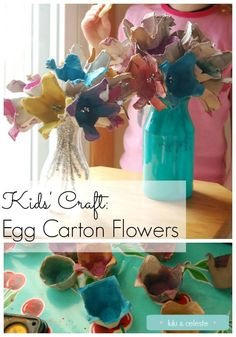 Make a bouquet of flowers from egg cartons saved from the recycling bin. Great craft for preschoolers