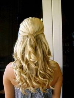 Half-up and Styled Down Hair Photo Gallery - Down and Half-up Styled ...LOVE how simple this is..perfect for a country wedding