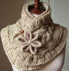 Knit Moon Flower Scarf Free Pattern... I would leave off the flower