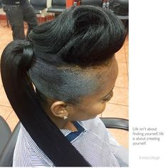 black women's hairstyles with braids Cute Ponytails, Ponytail Styles, Updo Styles, Sleek Ponytail, Curly Hair Styles, Natural Hair Styles, Black Ponytail Hairstyles, Cute Simple Hairstyles, Short Black Hairstyles