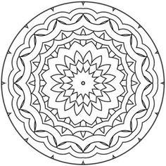 mandala coloring pages beginner