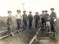 Group of unknown Railroad workers in West Virginia