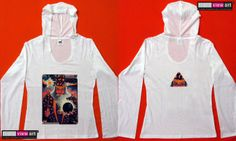 """""""Merlin"""" UV-Blacklight Fluorescent & Glow-In-The-Dark Psychedelic Art Womens Hoodie in White, $46 in Tripleview Art eBay Store _____________________________ #psychedelic #psy #trance #psytrance #goatrance #rave #trippy #hippie #esoteric #mystic #spiritual #visionary #symbolism #UV #blacklight #fluorescent #fluoro #fluo #neon #glow #glowinthedark #phosphorescent #luminescent #art #hoodie #merlin #wizard #magus #magic #rainbow #mushrooms www.TripleviewArt.com"""