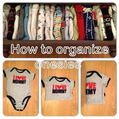 Organizing baby clothes in dresser - My better half discovered this, it's such a hassle free way to see every piece in the drawer, makes picking out an outfit much easier!