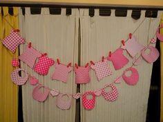 Opciones de banderines para Baby shower!!