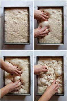 Simple Sourdough Focaccia Bread Recipe ~ Homestead and Chill Focaccia Bread Recipe, Sourdough Recipes, Sourdough Bread, Bread Recipes, Sourdough Starter Discard Recipe, Muffins, Bread Rolls, Daily Bread, Pain
