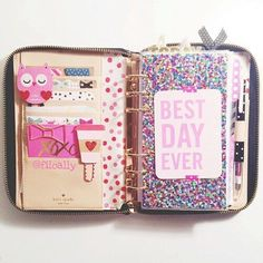 Filofax shared by Turton on We Heart It Personal Planners, Day Planners, Cute Planner, Happy Planner, Filofax Original, Midori, Kate Spade Planner, Cute School Supplies, Planner Supplies