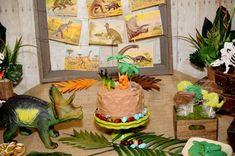 Kindergeburtstag Deko Jungs ideen torte dinosauren
