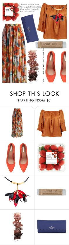 """""""203"""" by erohina-d ❤ liked on Polyvore featuring Chicwish, Boohoo, H&M, Marni, L.A. Girl, Olive and Kate Spade"""