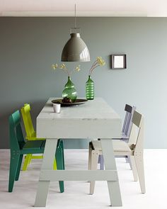 Poligöm / Home Challenge : Le vert lichen, couleur de l'année