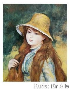 Pierre Auguste Renoir - Girl and golden hat