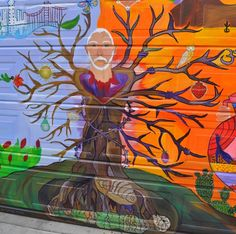 One of the newer Mission Murals on Balmy Street in San Francisco. #sanfrancisco #streetart