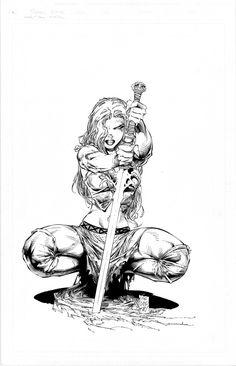 Silvestri Marc - More Than Mortal #3 Variant Cover - Original Art, in Beautès sur PapierArt Gallery's My Permanent Gallery... Comic Art Gallery Room - 1033792