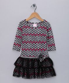 Another great find on #zulily! Nannette Black & Pink Zigzag Dress - Infant, Toddler & Girls by Nannette #zulilyfinds