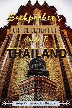 Everything you have ever wanted to know about Thailand. This MASSIVE guide to the country will take you off-the-beaten-path to hidden gem destinations that most tourists miss. I'll also cover the important hot spots that should be on every travelers' bucketlist. |Thailand Travel | Backpacking Thailand | Thailand Hidden Gems | Thailand Attractions | Travel in Southeast Asia | Off-the-beaten-path Thailand | Budget Travel Thailand | Asia Travel | Backpacking Trips | Thailand Travel Backpacking, Backpacking Trips, Thailand Travel Tips, Asia Travel, Thai Islands, Krabi, Hot Spots, Chiang Mai, Amazing Destinations