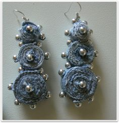 denim earring