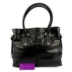 Tod's Shoulder Bag Black Color Patent Leather Good Condition Ref.code-(GOTS-1) More Information Pls Email  (- luxuryvintagekl@ gmail.com )