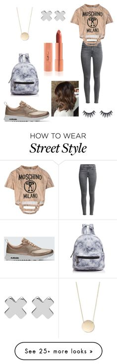 """"" by danaakhaled on Polyvore featuring Moschino, NIKE, Street Level and Witchery"