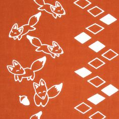 Japanese Tenugui cotton towel fabric. Animal pattern / kawaii fox + mountain road design on red. High quality tenugui fabrics made of soft 100% cotton cloth and hand dyed by Japanese master dyers.  [ H o w T o U s e ] * towel * washcloth * dishcloth * headband / bandanna * scarf * wall hanging (like a painting or textile) * wrapping * place mat * table runner / center piece * book jacket, and... MORE! Enjoy your own unique way!  [ M a t e r i a l ] Cotton 100%  [ D i m e n s i ...