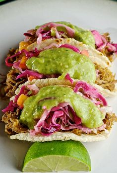 Pulled Pork Tacos & Hatch-banero Mango Slaw