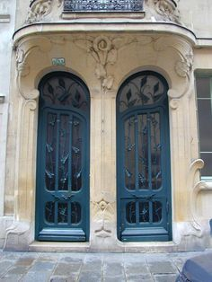 Paris, France: Les Arums, 33 Rue du Champ de Mars: doors (art nouveau, 1900, architect Octave Raquin)
