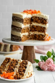 BEST Carrot Cake Recipe - How to Make Carrot Cake from Scratch. Perfectly moist with pineapple and cream cheese frosting. Garnish idea for decorating #Cake #Recipe #CarrotCake Homemade Carrot Cake, Moist Carrot Cakes, Best Carrot Cake, Cream Cheese Recipes, Cream Cheese Frosting, Cheesecake Cake, Cake Recipes, Carrots, Spices
