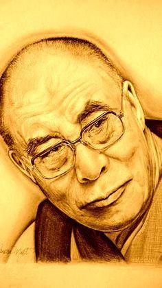 drawing of the dalai lama
