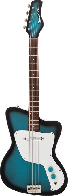 1967 blueburst Danelectro Hawk Bass --- https://www.pinterest.com/lardyfatboy/