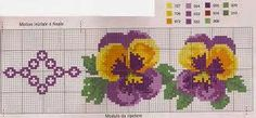 Cross Stitch Designs, Cross Stitch Patterns, Cross Stitch Needles, Bead Loom Bracelets, Cross Stitch Flowers, Loom Beading, Pansies, Diy And Crafts, Embroidery