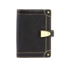 Louis Vuitton Black Suhali Small Planner