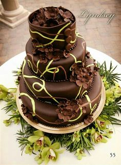 Pastel de bodas chocolate