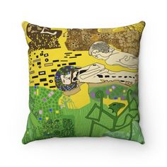Cushion Pillow Colour Pattern Gustav Inspired Dispatched   Etsy Cushions For Sale, Boy Art, Art Studios, Thought Provoking, Fashion Prints, Color Patterns, Cushion Pillow, Colours, Throw Pillows