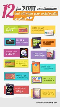 Download 'em all @ http://www.twelveskip.com/resources/fonts/1290/font-combinations-social-media-graphic