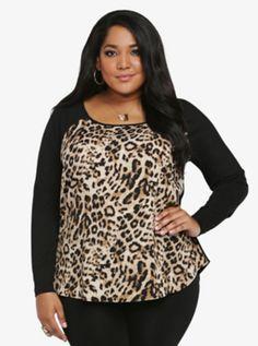 Cheetah Print Raglan Top