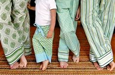 Homemade PJ's. Cute idea for the holidays. - well we have figured out pillowcase dresses so...may try this next