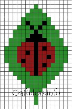 83b04ffb9 Crafts for Kids - Fuse Beads or Perler Beads Lady Bug on a Leaf Pattern
