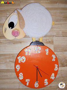 anjelicek / Hodiny - ovečka Clock, Wall, Home Decor, Watch, Decoration Home, Room Decor, Clocks, Walls, Home Interior Design